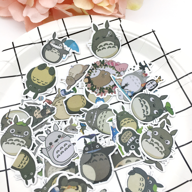 32pcs Cute Totoro Sealing Stickers Diary Label Stickers Pack Decorative Scrapbooking DIY Stickers