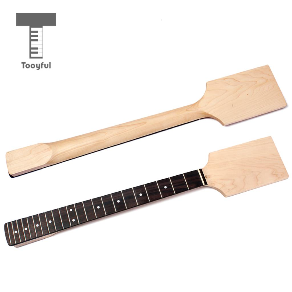Tooyful DIY Guitar Body MapleNeck Rosewood Fretboard Fingerboard for Electric Guitar diy electric guitar kit unique body rosewood fingerboard neck for lp guitar body african mahogany with a 15 mm of american har