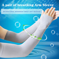 Arm Warmer Summer Sleeves Sun UV Protection Off White Arm Warmer Sleeves Half Finger Long Gloves Cuff Arm Sleeves For Women Men