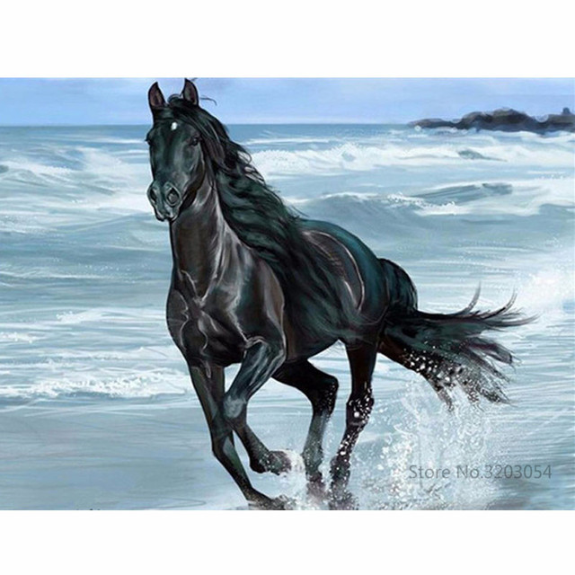 CHUNXIA Framed DIY Painting By Numbers Animals Horse Acrylic Painting Modern Picture Home Decor For Living Room 40x50cm RA3399