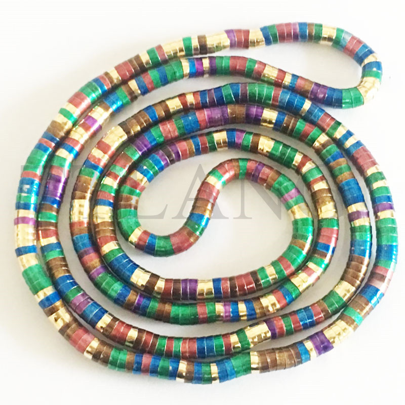 Manufacture 5mm 90cm Colorful Rainbow Colors Plated Iron Bendable Flexible Bendy Snake Necklace 10pcs pack