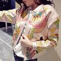 Новая Коллекция Весна и Осень Горный Хрусталь бейсбол куртка печати женская одежда женский пальто