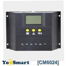 PWM 60A 12V 24 24v ソーラーレギュレータ lcd ソーラー充電コントローラ鉛酸ゲル浸水バッテリーソーラー CM6024Z 電圧制御