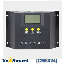 PWM 60A 12V 24V Solar Regulator met LCD Solar Laadregelaar voor lood zuur GEL Overstroomd Batterij solar CM6024Z Voltage Controle