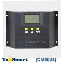 PWM 60A 12V 24V regulator słoneczny z LCD regulator ładowania słonecznego dla ołowiu żel kwasowy zalany bateria słoneczna CM6024Z kontrola napięcia