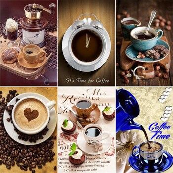 Iğne 5d Diy Elmas Boyama Kahve Fincanı çapraz Dikiş El Sanatları