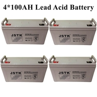 4*12V 100AH Sealed Lead Battery Maintenance Free Solar System Storage Battery 12V 400AH Battery Bank
