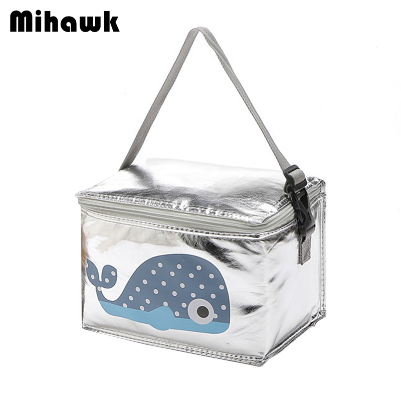 Mihawk Cartoon Animal Lunch Bags Women Thermal Fresh Keeping Food Container Picnic Pouch Insulated Cooler Box Accessory Products