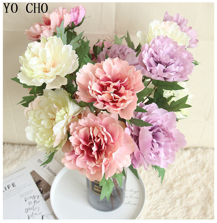 Chinese national flower peonies simulation big peony flowers for home, living room, bedroom, party,wedding,hotel,shopwindow decoration arranging flower accessories for christmas new year Halloween Thanksgiving Anniversaries