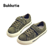 Bakkotie 2017 New Autumn Fashion Baby Boy Brand Sneaker Genuine Leather kid Girl Leisure Red Shoes Breathable Black Child Soft