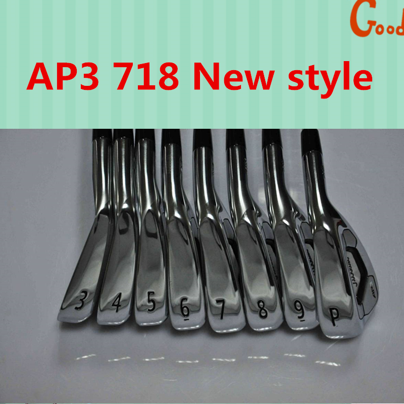 Hot sell  2017 new golf irons sets AP3 718 AP3 Man Golf Forged Irons set 718 with steel shafts and headcovers 3-9p free shipping simulation mini golf course display toy set with golf club ball flag