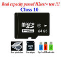 Free Shipping Real Capacity Memory 2G 4G 8GB class4 16GB 32GB 64GB 128GB class10 micro sd hc card Pass h2testw + adapter reader