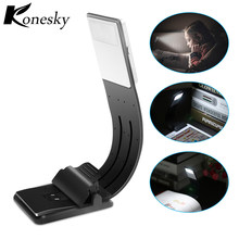 Led USB Charge Book lights dimmable fold bending adjust Clip on Read Night lamp desk kindle eBook Ipad backlight for computer(China)