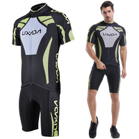Men's Short Sleeve Cycling Jersey Padded Short Sportswear Suit Set Breathable Cycling Cloth Set Man Cycling Clothes