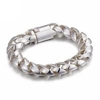 Fashion Men's Silver Bracelet S925 sterling silver bracelet Men's domineering sideways deduction hand jewelry wholesale