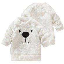 Children Baby Clothing Boys Girls Lovely Bear Furry White Coat Thick Sweater Coat ZV37