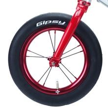 GIPSY FOLDING TIRE balancebike 12 12 inch Slick Tire 190g 60PSI ORANGE LABEL 60tpi pushbike kidsBike upgrade with Free Tube