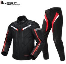 GHOST RACING Motorcycle Jacket Spring Autumn Men Waterproof Moto Riding Racing Motorbike Clothing Protective Gear