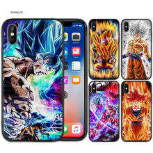 Cartoon Pattern Silicone Case Cover for iPhone XS Max X XR 6 6s 7 8 Plus 5 SE 5S Phone Soft Shell Dragon Ball Z Super DBZ Goku