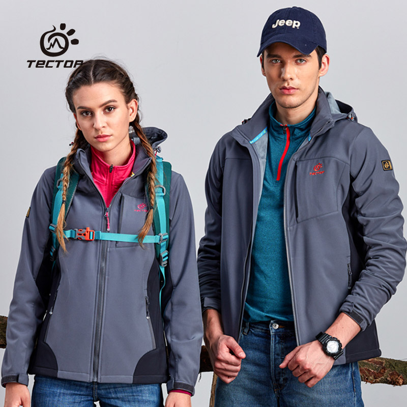 TECTOP Men's and women's Jackets, windproof, waterproof, warm, autumn and winter outdoor soft shell JW6639-JW6640 tectop winter 90