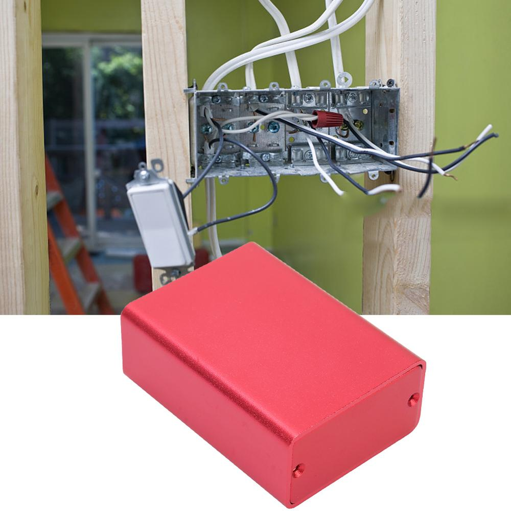 Extruded Aluminum Enclosures PCB Instrument Electronic Project Case Junction Box DIY Housing Frosted Red 23x44x60mm