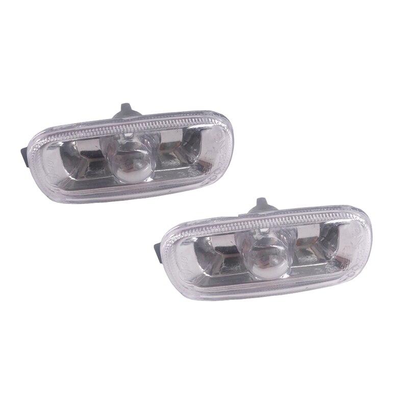 JEAZEA 8E0 949 127 8E0949127 Voiture Fender Side Signal Lumineux de Tour Voyant Lampe Témoin Couverture Pour Audi A6 C5