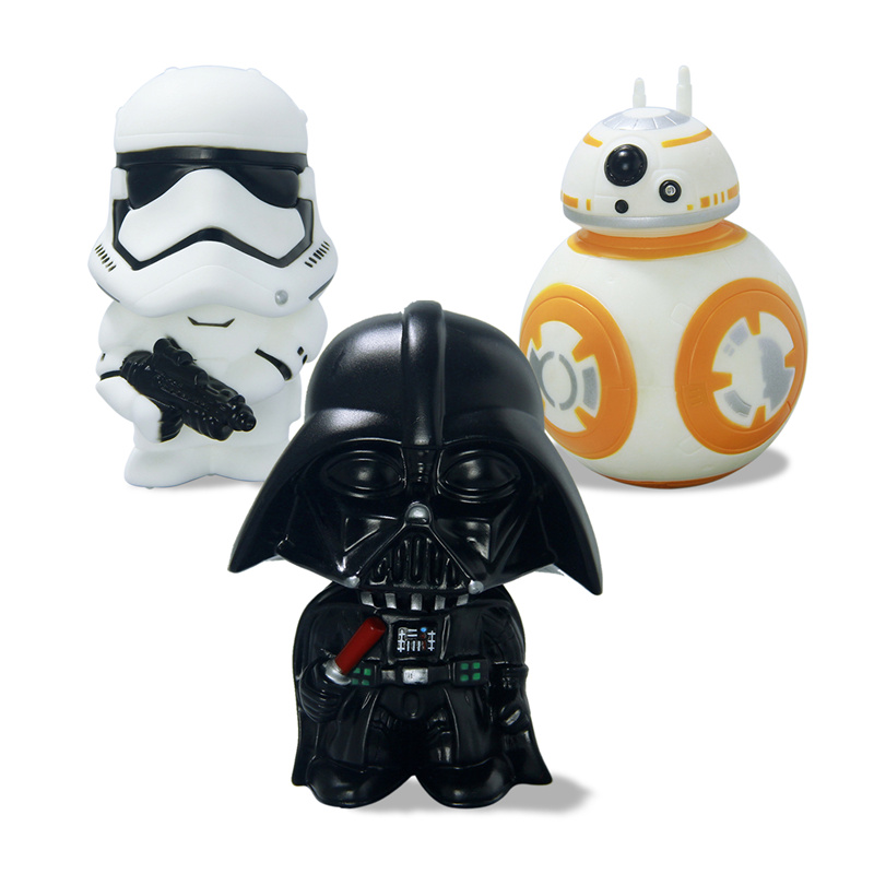 11cm Star Wars 7 The Force Awakens BB-8 Darth Vader Stormtrooper PVC Model Action Figure BB8 Toys 8 5cm star wars the force awakens bb8 bb 8 robot action figures pvc brinquedos collection figures toys for christmas gift