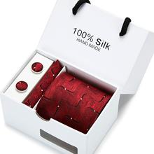 Classic 8cm Width Floral Paisley Ties Cravate Luxury Hommer Mens Silk For Men Suit Business Wedding Necktie Gift Box Pack