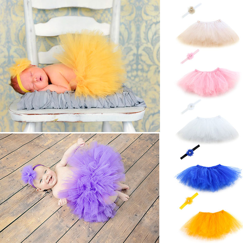 Sweet-Newborn-Baby-Girl-Tutu-Skirt-Flower-Headband-Photo-Prop-Costume-Outfit-2