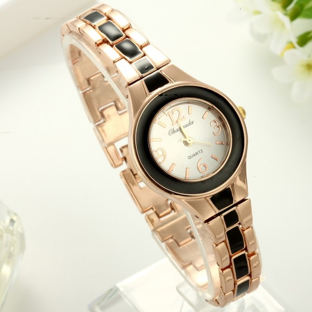 Brand CYD New Women Watches Lady Quartz Analog Fashion Rose Gold Bracelet Watch