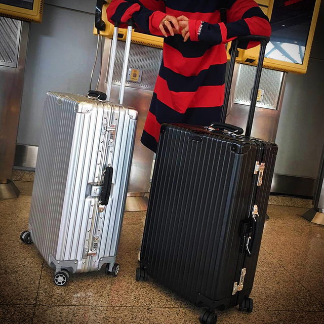 """20""""24""""26""""29""""inch Luggage,Aluminum frame+PC+ABS Suitcase,Vintage Carry-Ons,Rolling Box,Nniversal wheel Password Lock Travel Bag"""