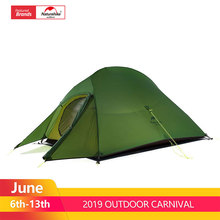 Naturehike Upgraded Cloud Up 2 Ultralight Tent Free Standing 20D Fabric Camping Tents For 2 Person With free Mat NH17T001-T