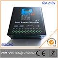 60a 240 فولت pwm تحكم تهمة الشمسية مع led و شاشة lcd ، التلقائي تحديد الجهد ، mcu تصميم مع الأداء الممتاز