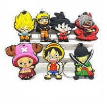 Cartoon Luffy Naruto KeyChain Animal Tokyo Ghoul Silicone Wukong Key Chains Hot Anime Dragon Ball Key Chain Bag Joba Key Ring(China)