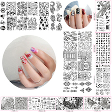 10Pcs Professional Nail Stamping Plate Set yicai(21-30) Lace Accessories Nail Art Stamping Image Plates DIY Template Nail Tool все цены