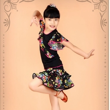 Child Latin dance clothing Tango Ballroom Dance Dresses  Salsa Dance Dress  cha cha costume
