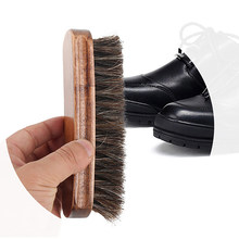 1 piezas de madera de la manija de crin de caballo zapato cepillo  Bootpolish casa Herramientas 56d6f2761370