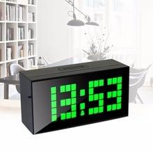 Promotion Clock (40pcs/lot) Big Digitals Color Red Plastic Mute LED Digital Clocks with Calenda Alarm Temperature