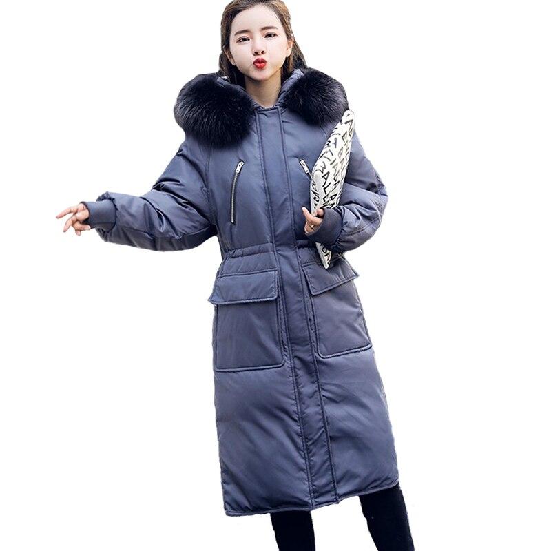 100% Wahr Hohe Qualität Winter Unten Jacke Frauen Dicke Warme Große Waschbären Pelz Kragen Mit Kapuze Tops Weibliche Plus Größe Weiße Ente Unten Parkas 2268