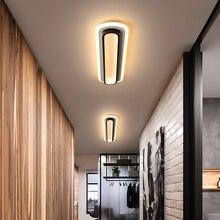Современные светодиодные потолочные лампы для гостиной, спальни, кабинета, коридора, белого, черного цвета, поверхностный монтаж, потолочный светильник, AC85-265V