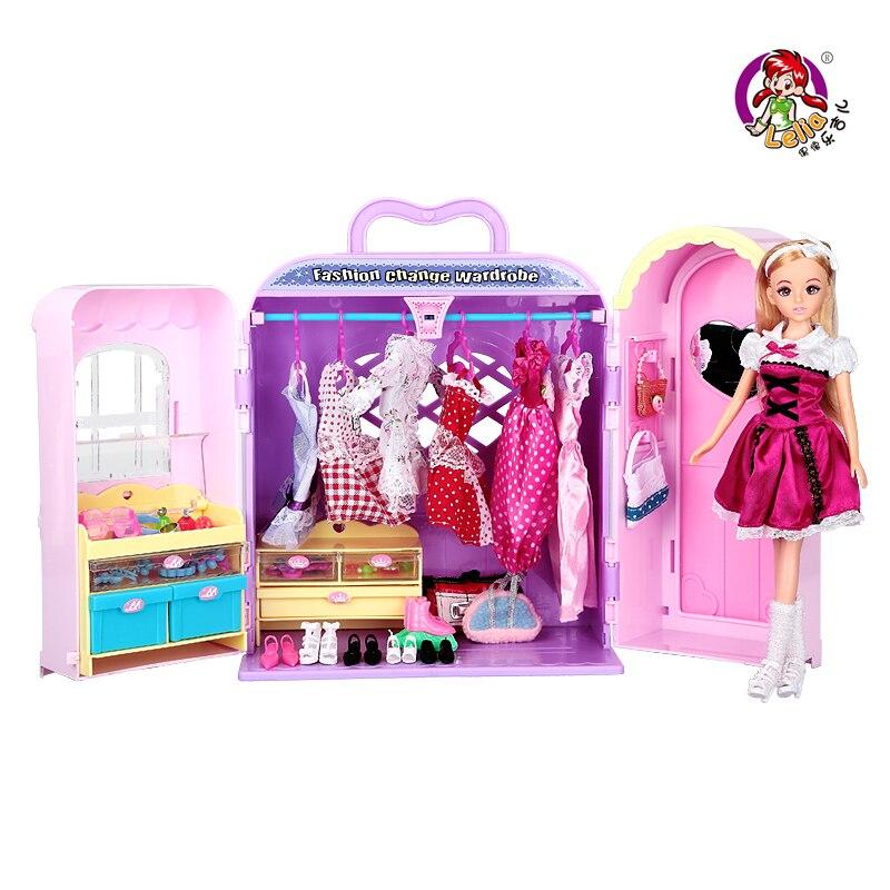 Artificielle Mini enfants rêve garde-robe ensemble bébé garde-robe jouets mâle fille enfant multifonction jouets éducatifs anniversaire Gif