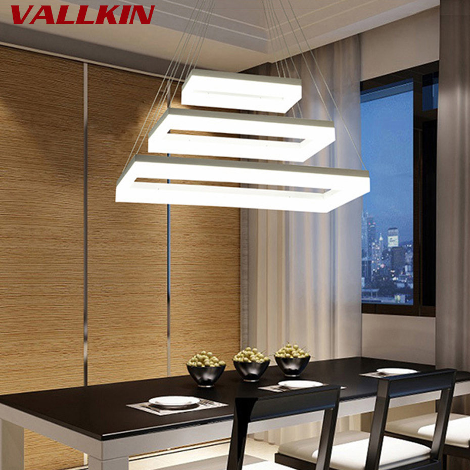 Круг прямоугольник кольцо современный светодиодный подвесной светильник столовой стол светодиодный подвесной светильник Утюг подвеска в