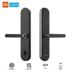 Oryginalny Xiaomi Mijia Aqara S2 linii papilarnych Inteligentny zamek do drzwi ekran dotykowy Keyless blokada dla inteligentnego sterowania App domu z zestawem śrub 1