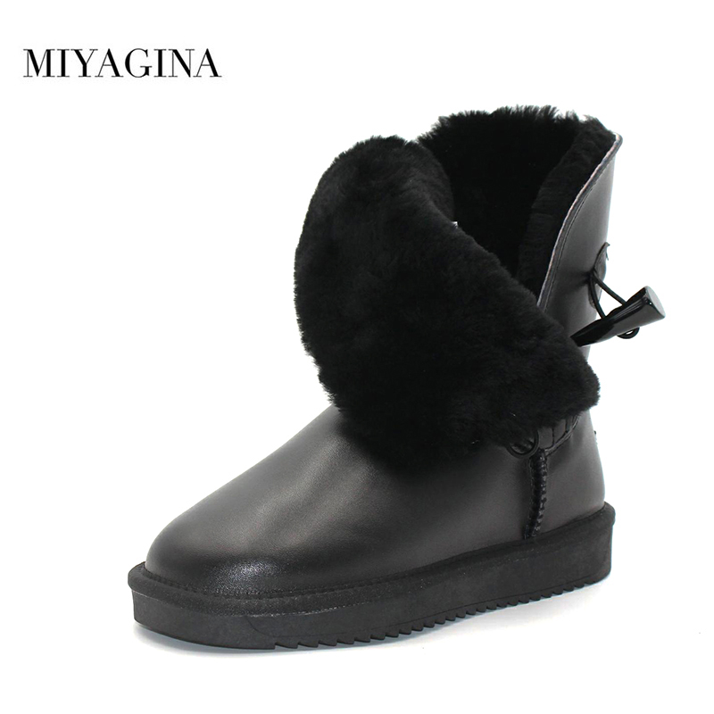 Top Quality 100% Genuine Cowhide Leather Snow Boots Natural Fur Botas Mujer Winter Real Wool Shoes For WomenTop Quality 100% Genuine Cowhide Leather Snow Boots Natural Fur Botas Mujer Winter Real Wool Shoes For Women