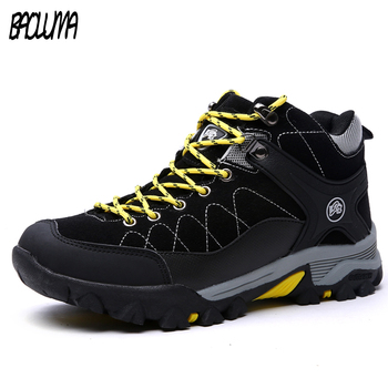 Men Boots Winter With Fur 2018 Male Warm Snow Boots Men Winter Boots Work Shoes Men Footwear Fashion Rubber Ankle Shoes 39-47