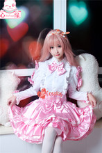 Miracle Nikki cosplay costume dress pink Lolita party suit Halloween Free Shipping