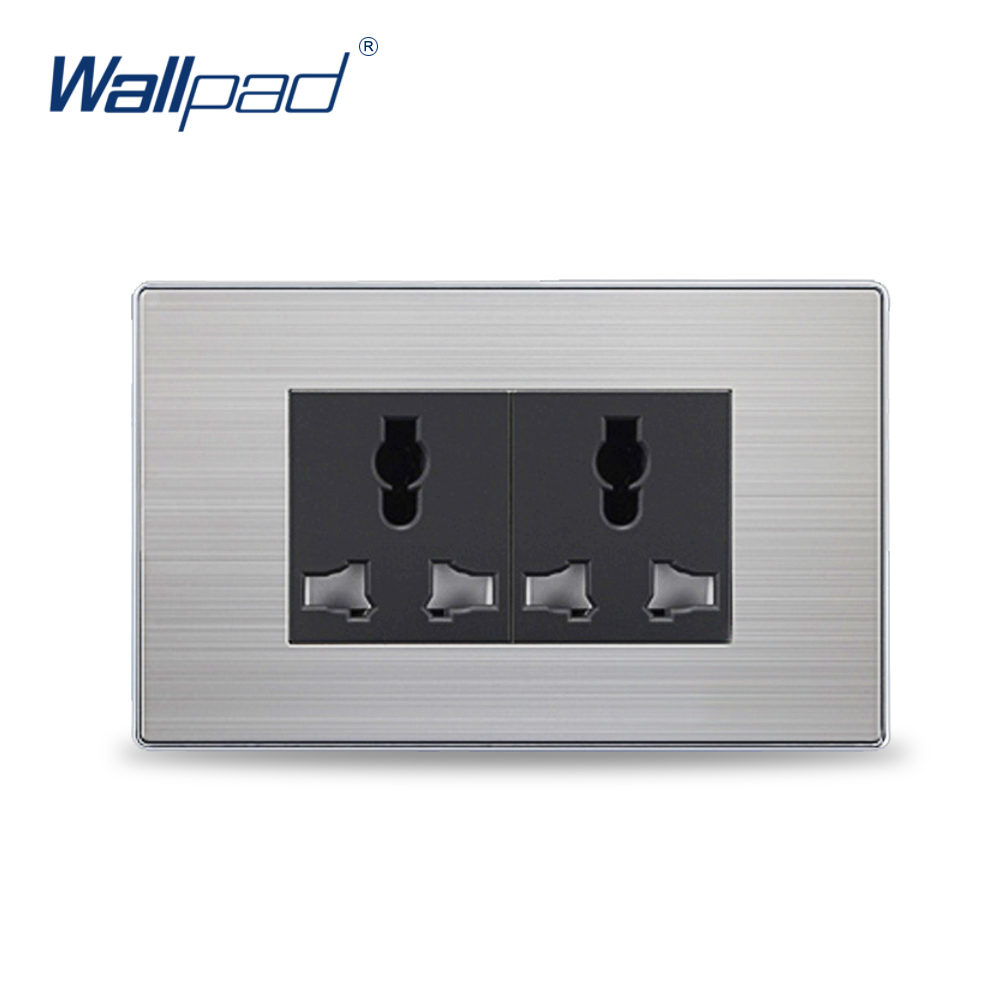 2018 Hot Sale 6 Pin Universal Electric Power Socket Wallpad Luxury Wall Outlet 118*72mm 2018 hot sale 6 pin multifunction socket wallpad luxury wall switch panel plug socket 118 72mm 10a 110 250v