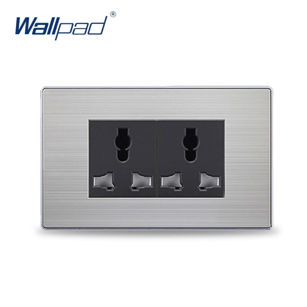 2018 Vente Chaude 6 Pin Universal Prise De Courant Électrique Wallpad De Luxe Prise Murale 118*72mm