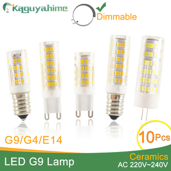 Kaguyahime 10pcs High Bright Ceramic Dimmable LED G4 G9 E14 Light Led Lamp 220V ACDC DC AC 12V Bulb 3W 5W 6W 7W 9W 10W