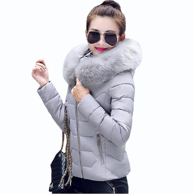 2017 Nova Womens Parkas Mulheres Casacos de Inverno E Casacos Grossos Quentes Faux Fur Collar Com Capuz Anorak Jaqueta Senhoras Femininos Manteau